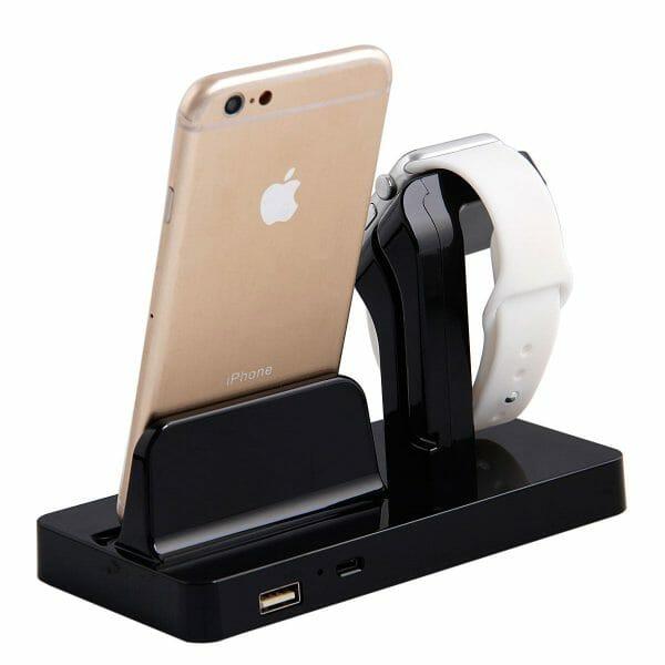 2 in 1 Apple Watch Standaard Iphone houder-005