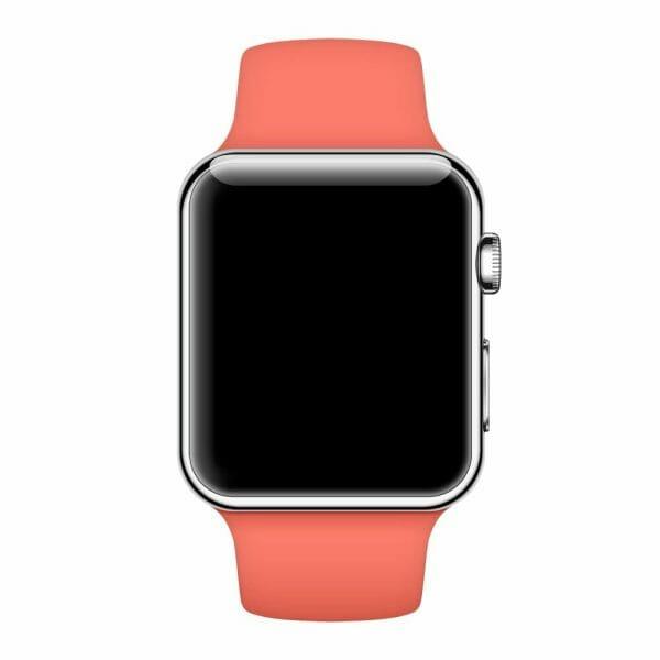 Apple watch bandjes - Apple watch rubberen sport bandje - apricot-004