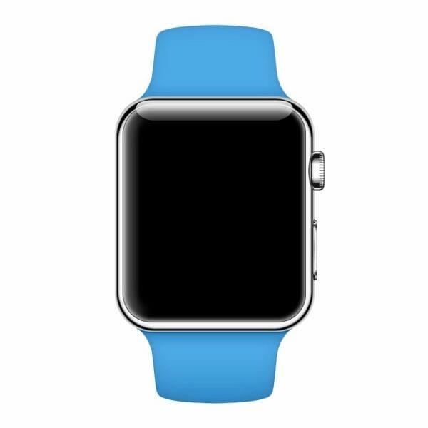 Apple watch bandjes - Apple watch rubberen sport bandje - blauw -008