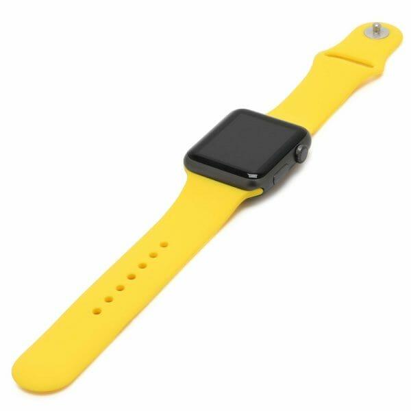 Apple watch bandjes - Apple watch rubberen sport bandje - geel-003