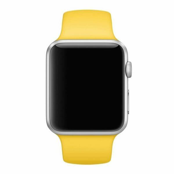 Apple watch bandjes - Apple watch rubberen sport bandje - geel-006