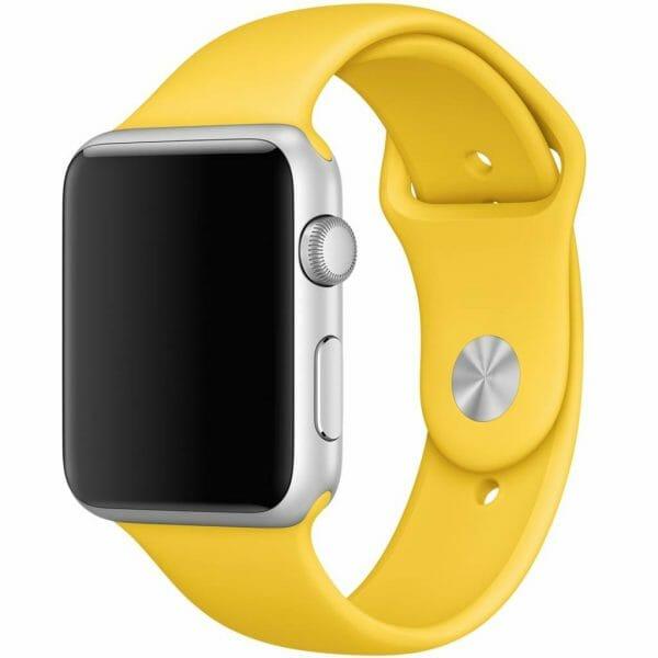 Apple watch bandjes - Apple watch rubberen sport bandje - geel-009