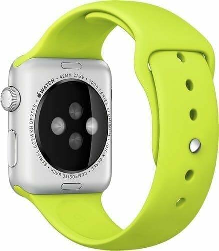 Apple watch bandjes - Apple watch rubberen sport bandje - groen 008
