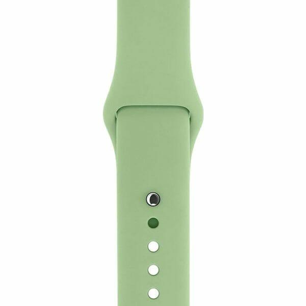 Apple watch bandjes - Apple watch rubberen sport bandje - mint-0