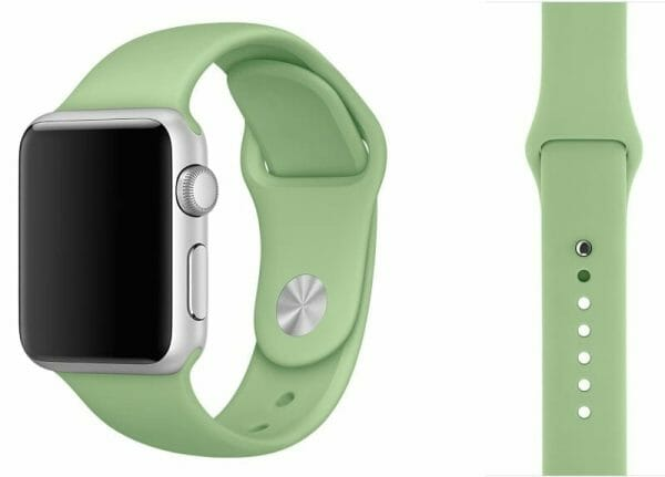 Apple watch bandjes - Apple watch rubberen sport bandje - mint