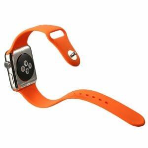 Apple watch bandjes - Apple watch rubberen sport bandje - orange-001