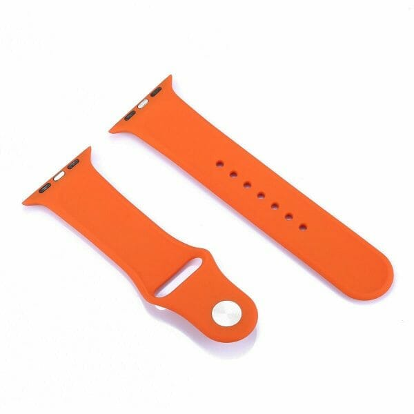 Apple watch bandjes - Apple watch rubberen sport bandje - orange-003