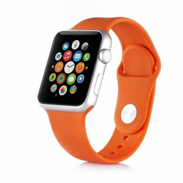 Apple watch bandjes - Apple watch rubberen sport bandje - orange-004