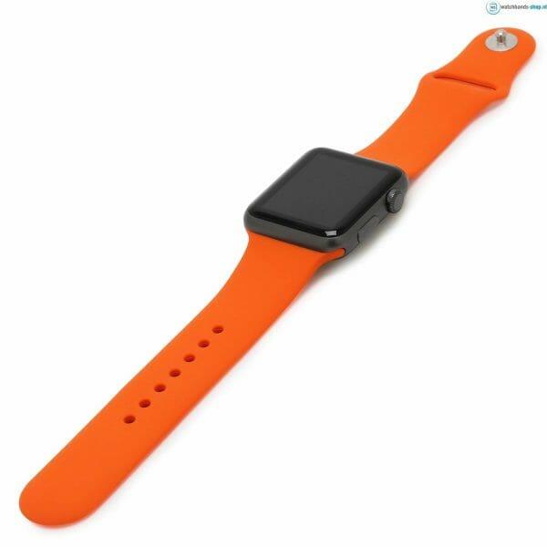 Apple watch bandjes - Apple watch rubberen sport bandje - orange-005