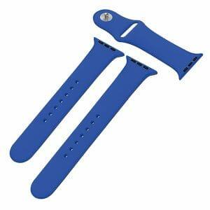 Apple watch bandjes - Apple watch rubberen sport bandje - royal blue-003