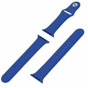 Apple watch bandjes - Apple watch rubberen sport bandje - royal blue-004