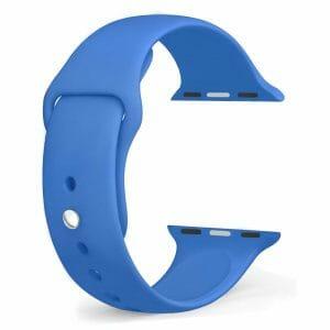 Apple watch bandjes - Apple watch rubberen sport bandje - royal blue-005