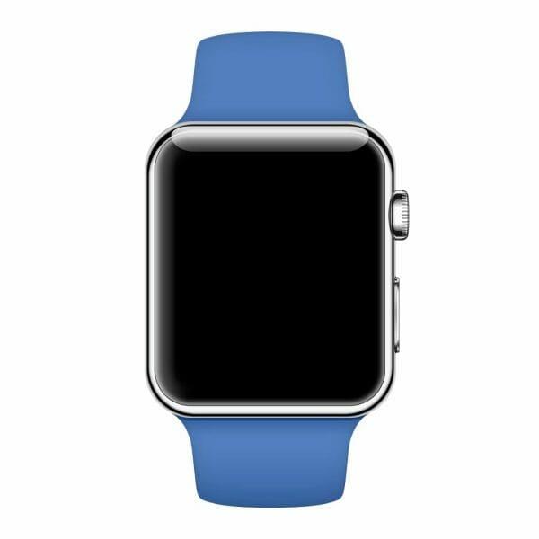 Apple watch bandjes - Apple watch rubberen sport bandje - royal blue-006
