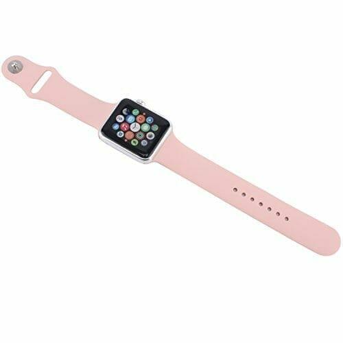 Apple watch bandjes - Apple watch rubberen sport bandje - roze-006
