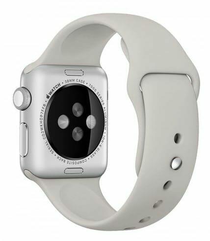Apple watch bandjes - Apple watch rubberen sport bandje - stone-010