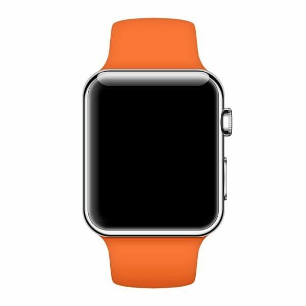 Apple watch bandjes - Apple watch rubberen sport bandje - stone-013