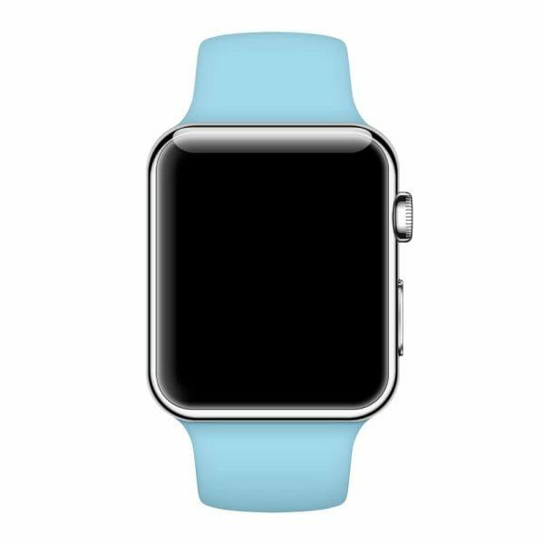 Apple watch bandjes - Apple watch rubberen sport bandje - turquoise-013