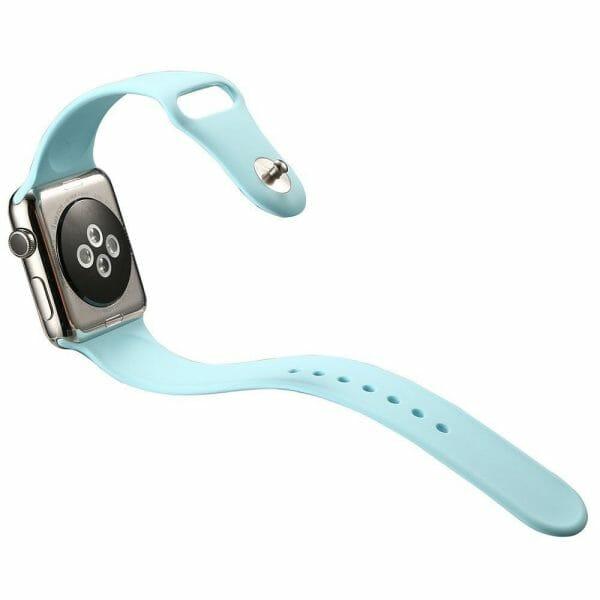 Apple watch bandjes - Apple watch rubberen sport bandje - turquoise.-002jpg