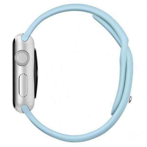 Apple watch bandjes - Apple watch rubberen sport bandje - turquoise.-010