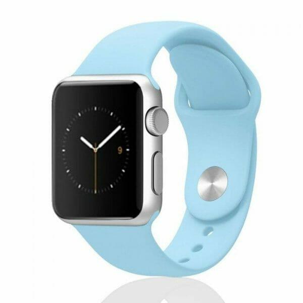 Apple watch bandjes - Apple watch rubberen sport bandje - turquoise.-011
