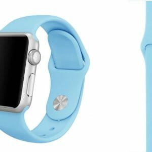 Apple watch bandjes - Apple watch rubberen sport bandje - turquoise