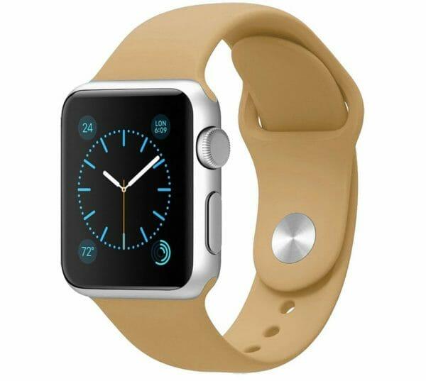 Apple watch bandjes - Apple watch rubberen sport bandje - walnut-000