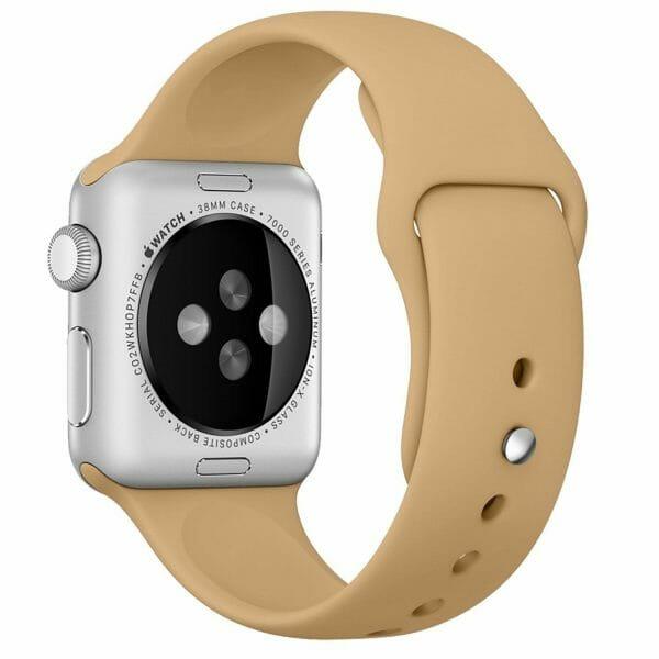 Apple watch bandjes - Apple watch rubberen sport bandje - walnut-001