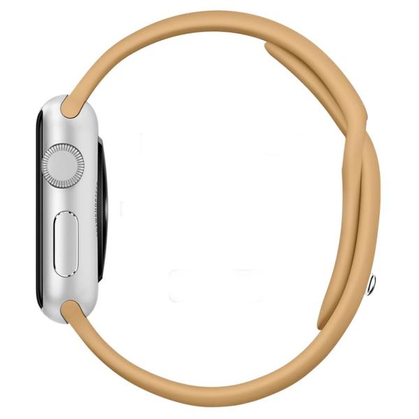 Apple watch bandjes - Apple watch rubberen sport bandje - walnut-002