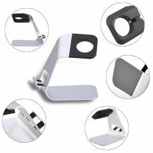 Apple watch stand hoog - Zilver-003
