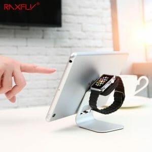 Apple watch stand hoog - Zilver-006