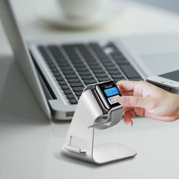 Apple watch stand hoog - Zilver-009