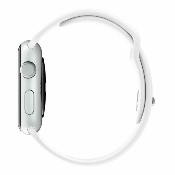 Rubberen sport bandje voor de Apple Watch Wit-003