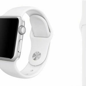 Rubberen sport bandje voor de Apple Watch Wit-005