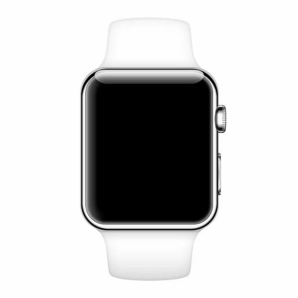 Rubberen sport bandje voor de Apple Watch Wit-006