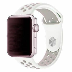 Rubberen sport bandje voor de Apple Watch Wit Lavendel-003