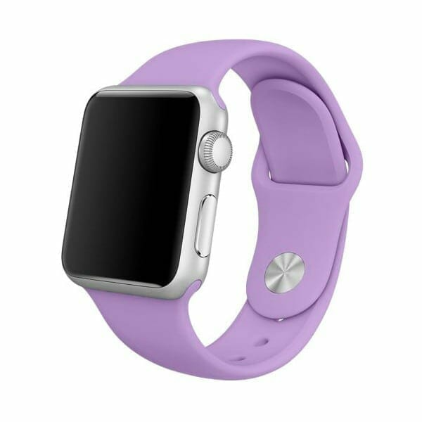 Rubberen sport bandje voor de Apple Watch paars-002