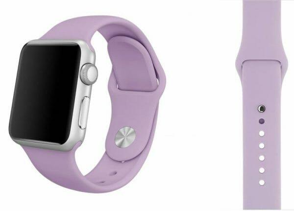 Rubberen sport bandje voor de Apple Watch paars-004