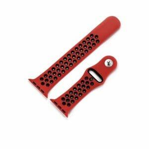 sport bandje voor de Apple Watch - Rood Zwart-008