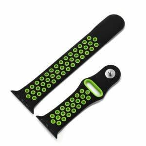 sport bandje voor de Apple Watch-Zwart-Groen-004
