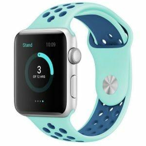sport bandje voor de Apple Watch-aqua-blauw-010