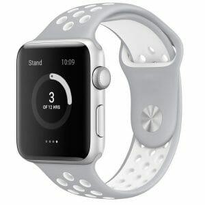 sport bandje voor de Apple Watch-grijs-wit-006