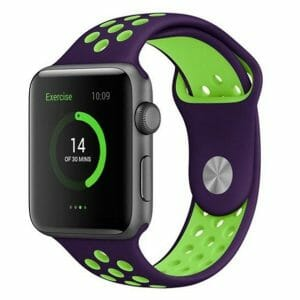 sport bandje voor de Apple Watch-paars-groen-005