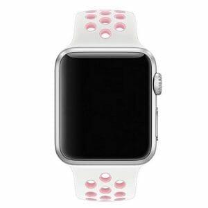 sport bandje voor de Apple Watch-wit-rose-001