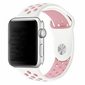 sport bandje voor de Apple Watch-wit-rose-004