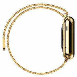 Milanese Loop rvs goud bandje voor de Apple Watch 42mm-011