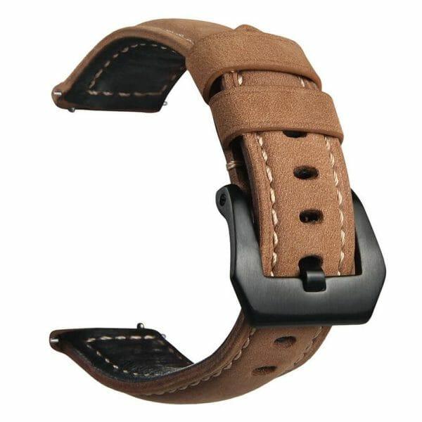 Leren Bandje Voor de Samsung Gear S3 Classic-Frontier-bruin-001