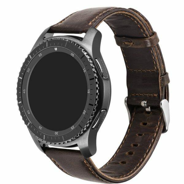 Retro Leren Bandje Voor de Samsung Gear S3-005