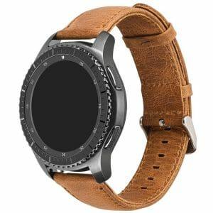 Retro Leren Bandje Voor de Samsung Gear S3-licht bruin-005