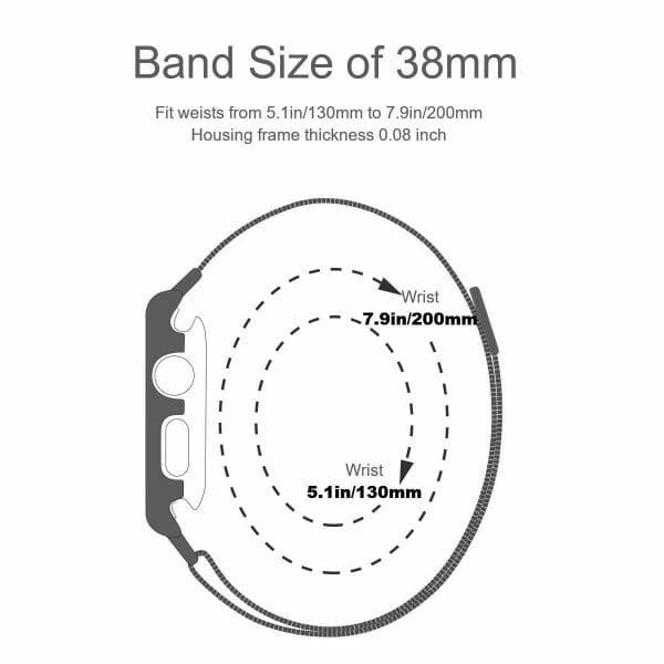 2 in 1 vervangend Apple Watch Band Milanese Loop en cover roestvrij staal vervangende band voor iWatch-011