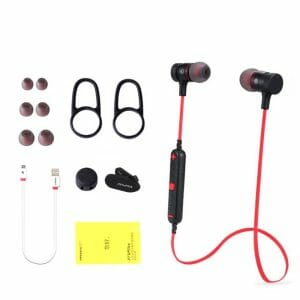 Awei A920BL Wireless Bluetooth 4.1 Sport Stereo Earphone - Goud In-ear oordopjes koptelefoon-006